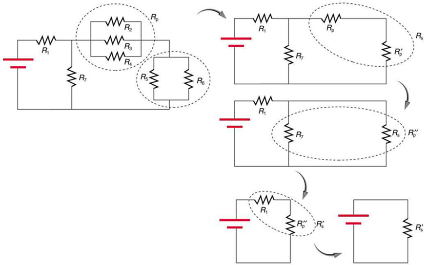 120 240 volt motor wiring diagram plant cell and labels resistors in series parallel college physics the has a set of five circuits first circuit combination