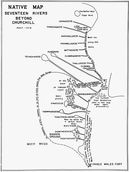449px-Native_Map_Seventeen_Rivers_beyond_Churchill_1719