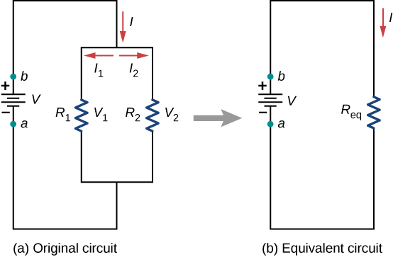 Equivalent Resistance Of Two Resistors Connected In Parallel