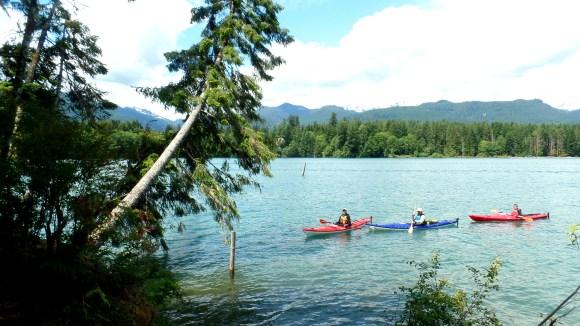 Kayaks on Baker Lake