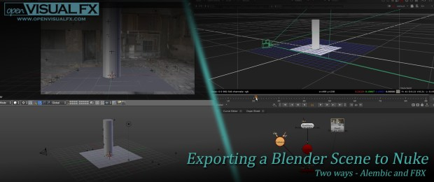 Exporting a Blender Scene to Nuke | OpenVisual FX