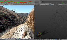 Tracking and using zero weighted tracks to create landscape geometry