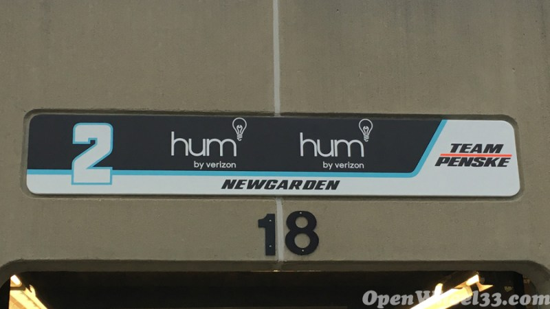 Garage Signs of the 101st Running of the Indianapolis 500 Mile Race - 2017 IMS GARAGE SIGN CAR 2 1