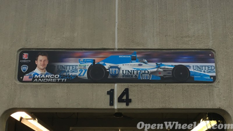 Garage Signs of the 101st Running of the Indianapolis 500 Mile Race - 2017 IMS GARAGE SIGN CAR 27