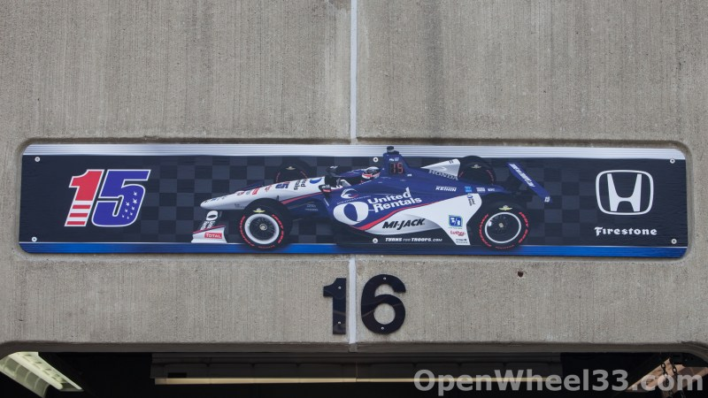 2018 Month of May Garage Signs at Indianapolis Motor Speedway - 2018 INDY 500 GS No. 15t