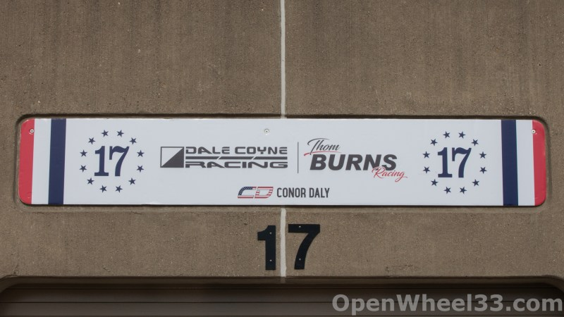 2018 Month of May Garage Signs at Indianapolis Motor Speedway - 2018 INDY 500 GS No. 17