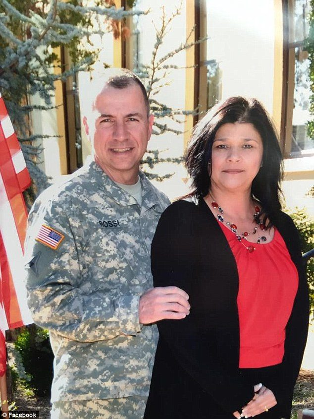 Rossi, a West Point academy graduate and an air defense artillery officer by training, had a wife, Liz (pictured with him), three children and a granddaughter