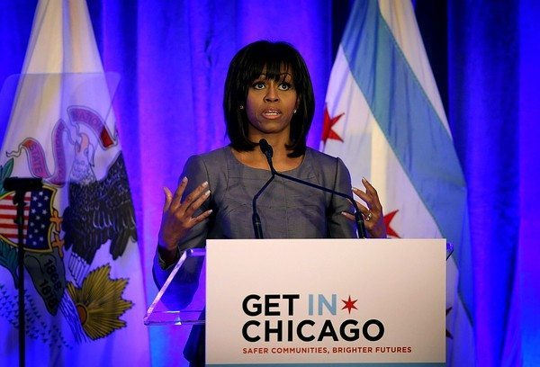 Michelle Obama Tears Up While Pushing Gun Control in Chicago