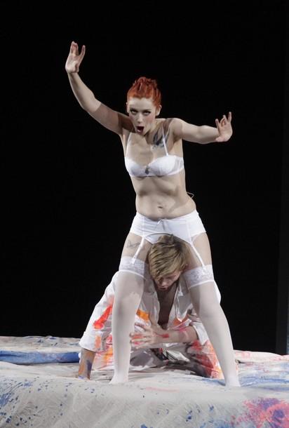 Opera Chic Petibon Models Lingerie for Salzburger