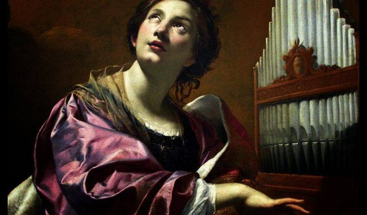 By Davide Chessa: Santa Cecilia,fotopintura from Simon Vouet