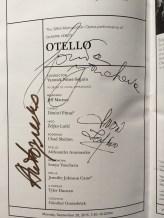 Otello cast autographs