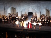 The cast at curtain call