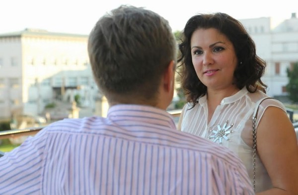 Anna Netrebko and Peter Bleha during interview for Opera Slovakia, Photo by Jozef Barinka