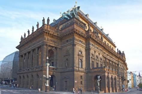 Außenansicht des Prager Nationatheaters, copyright: Narodni Divadlo