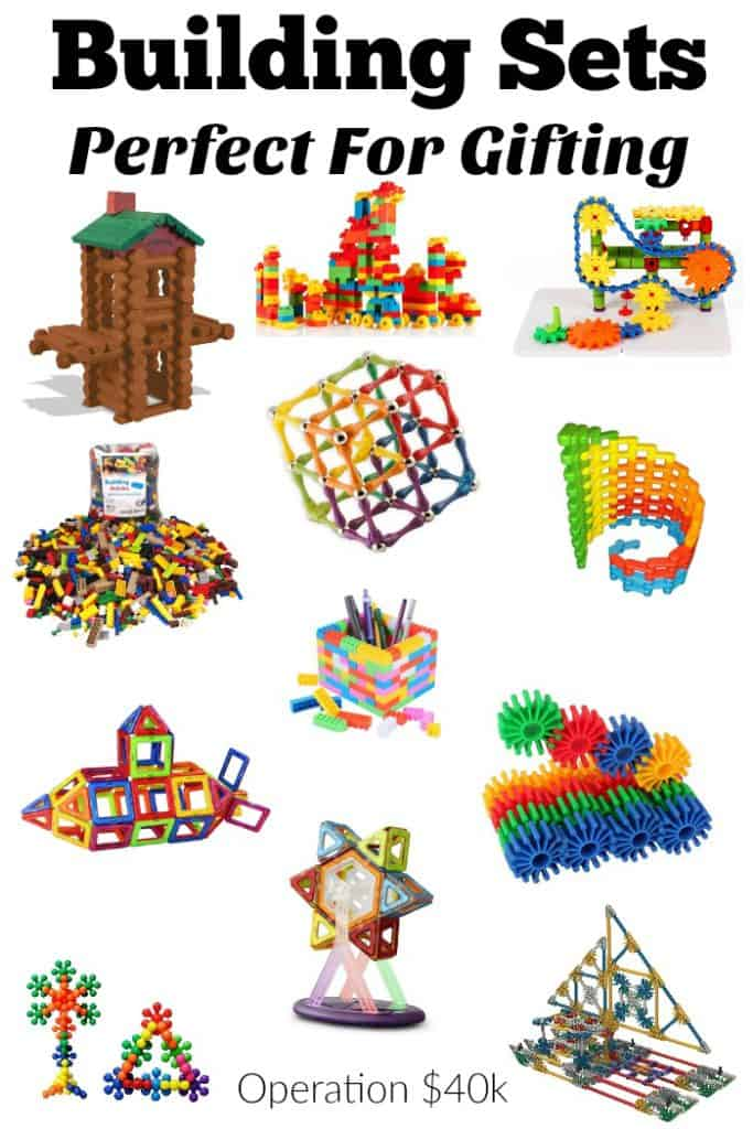 Building Sets are a great gift for all ages! Check out our huge list of the best wooden, plastic, and gear based building sets!