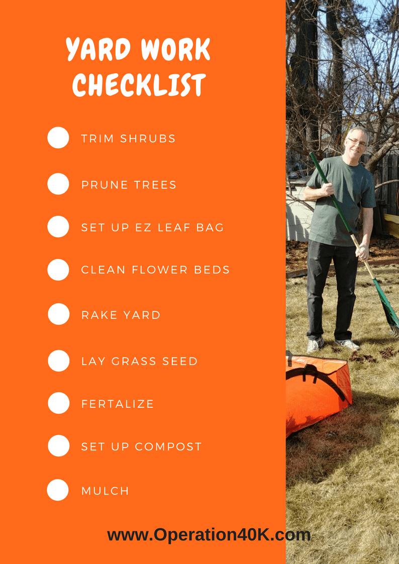 yard work checklist
