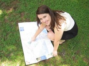 Brooke chooses her next destination for her senior photos.