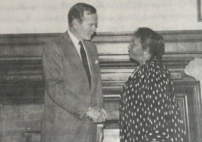 With President George H W Bush