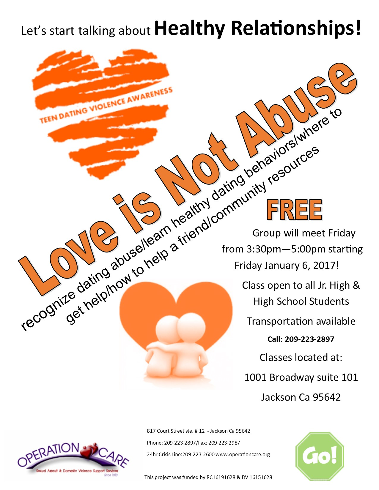 Healthy Relationships Group For Teens