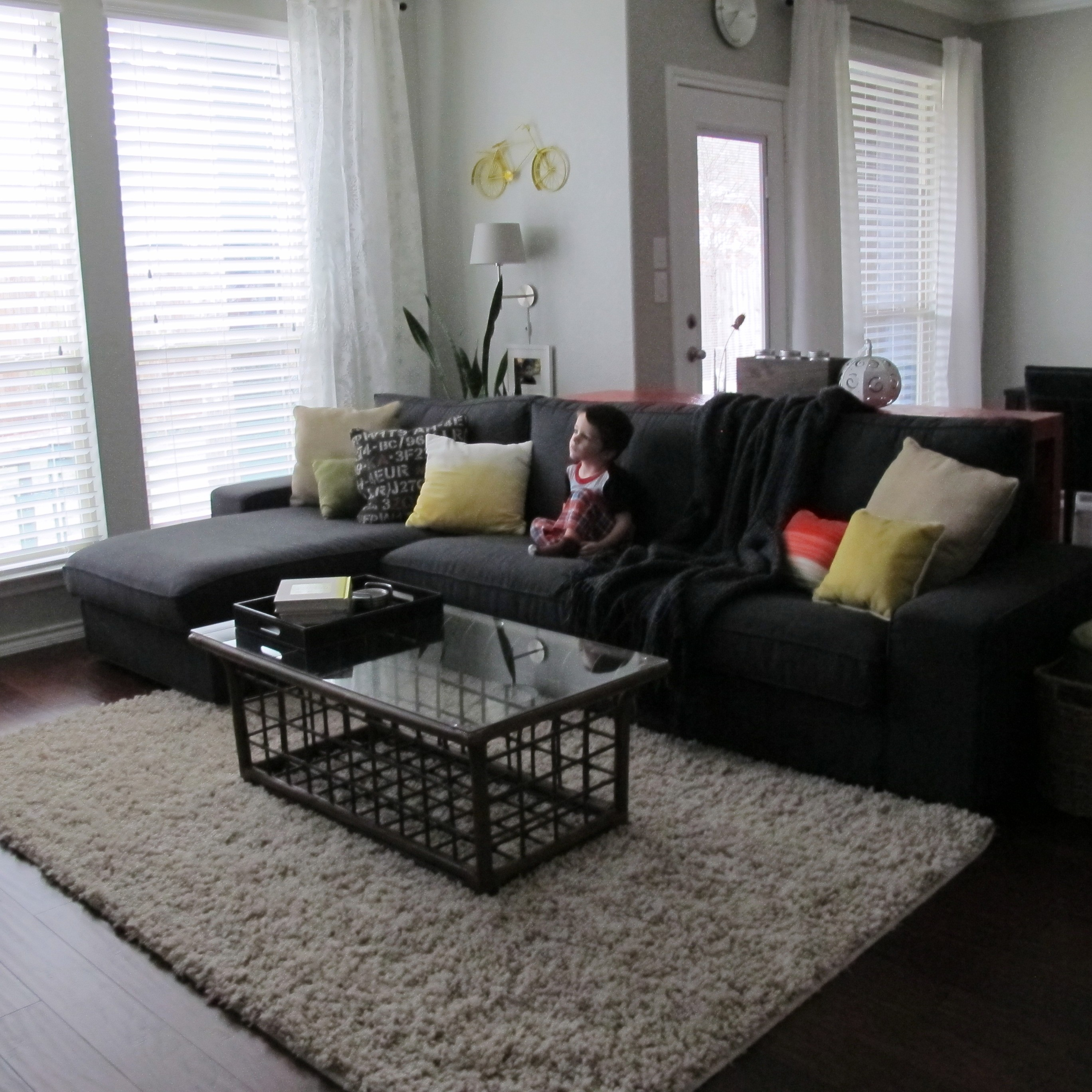 ikea gray brown sofa table wormley a tale of two sofas operation home