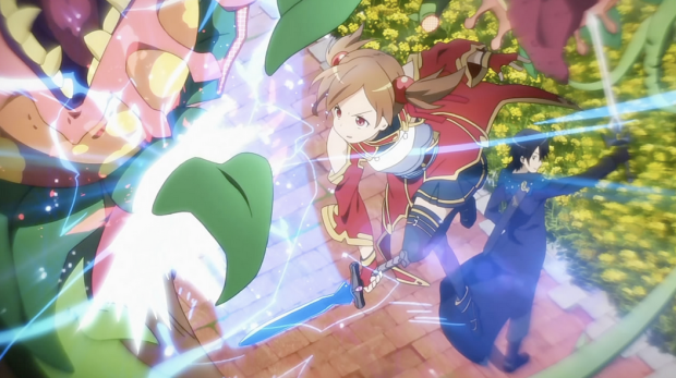 Sword Art Online Kirito and Silica Battle