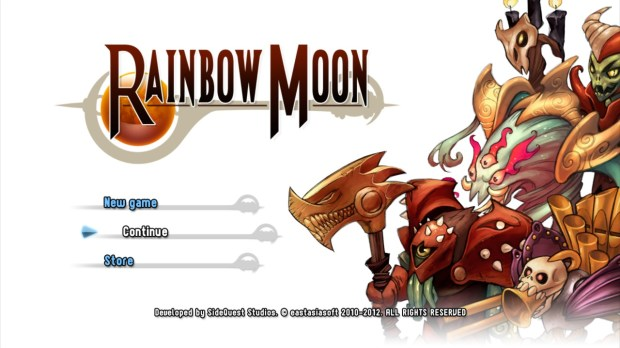 Rainbow Moon title screen
