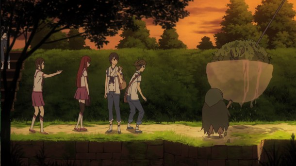 Shin Sekai Yori - Saki saves a Monster Rat