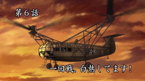 Girls und Panzer Kuromorimine Helicopter