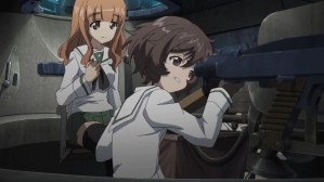 Girls und Panzer Saori and Yukari