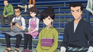 Girls und Panzer Yukari's parents, Hana's mother, and Shinzaburou