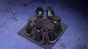 Girls und Panzer Yuuki, Ayumi, Karina, Saki, Azusa, and Ayu