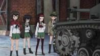 Girls und Panzer Caesar, Oryou, Saemonza, and Erwin