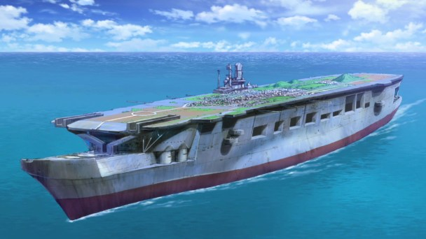 Girls und Panzer Kuromorimine School Ship