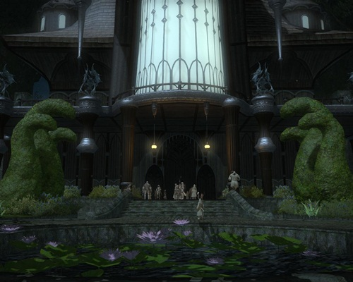 Final Fantasy XIV: A Realm Reborn [Beta Phase 1]—Dungeon Exterior Bottom
