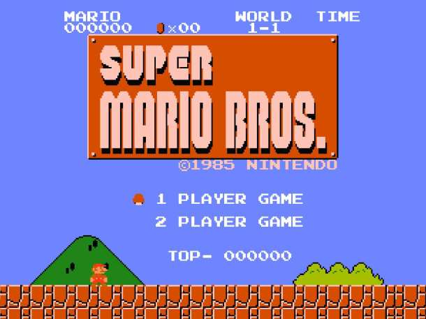 Super Mario Bros. Title Screen