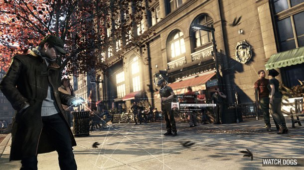 Watch Dogs texting while walking