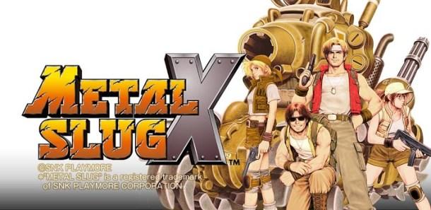 Metal Slug X | Logo and characters