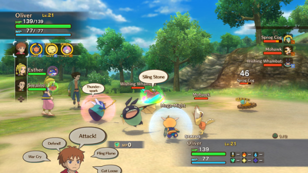 Ni no Kuni Battle System