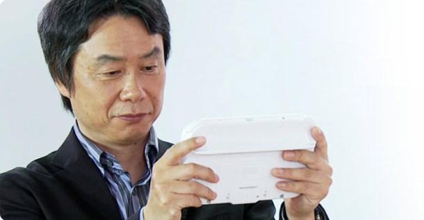 Shigeru Miyamoto with Nintendo Wii U GamePad