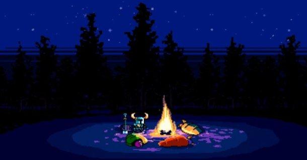 Shovel Knight - Campfire Scene