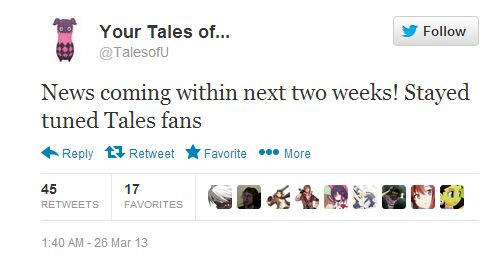 TalesofU tweet Tales series