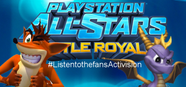 Fans are campaigning for Crash and Spyro in PlayStation All-Stars Battle Royale