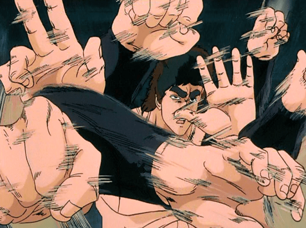 Fist of the North Star: The Movie | Kenshiro beating Jagi
