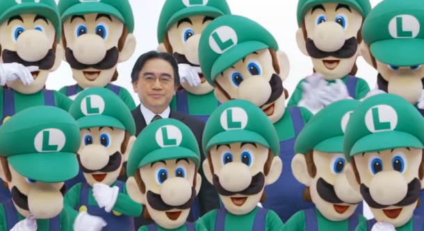 Iwata with Luigis | Media Create