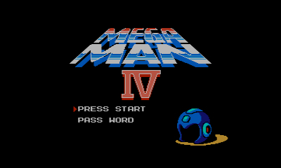 Mega Man 4 (3DS Virtual Console) | Title screen