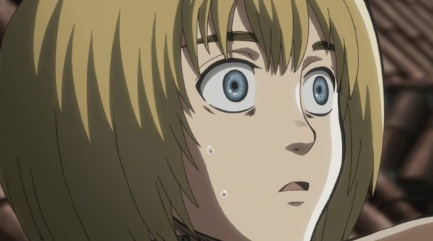 Attack on Titan Armin shocked