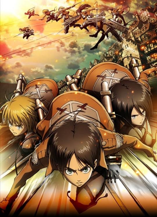 Attack on Titan Eren, Mikasa, Armin