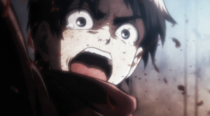 Attack on Titan Eren saves Mikasa