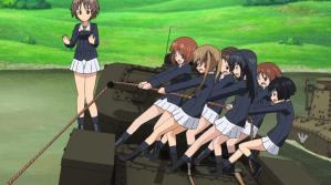 Girls und Panzer Saki, Miho, Aya, Azusa, Ayumi, Karina, and Yuuki