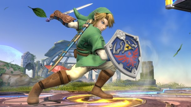Zelda - Link in Smash Bros Wii U